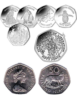 Falkland Islands 50p Coins
