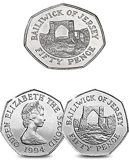 Bailiwick Of Jersey 50p Coins